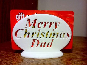 Merry Christmas Dad Gift Card Holder