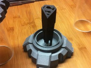 Kryptonian Storage Tube for Man of Steel Command  Key