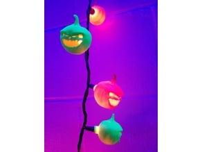 Monster pumpkin light covers