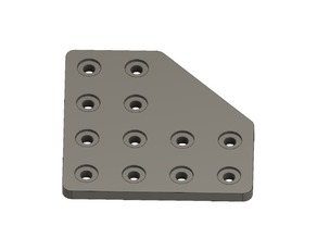 Plate Bracket for Aluminium Extrusion 2040, 80mm