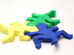 Printable 3D Escher-Style Lizard