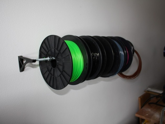 Wall Mount Spool Holder Brackets By Woodencase01 Thingiverse