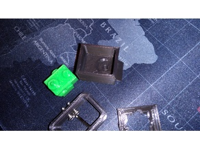 Fixed Silicone Sock for E3D Heatblocks (short nozzle)