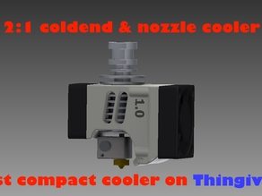 2 in 1 most compact extruder cooler 40-30mm fan