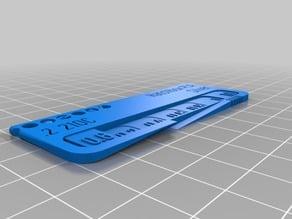 My Customized Filament Swatch (Filament test) Hatchbox Silver