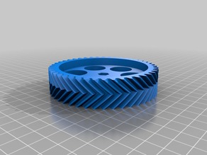 Customizable (parametric) gear (regular / helix / double helix / herringbone)