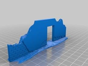 1:72/20mm ruined wall