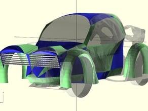 Python OpenSCAD 3D Spline Surface Creator