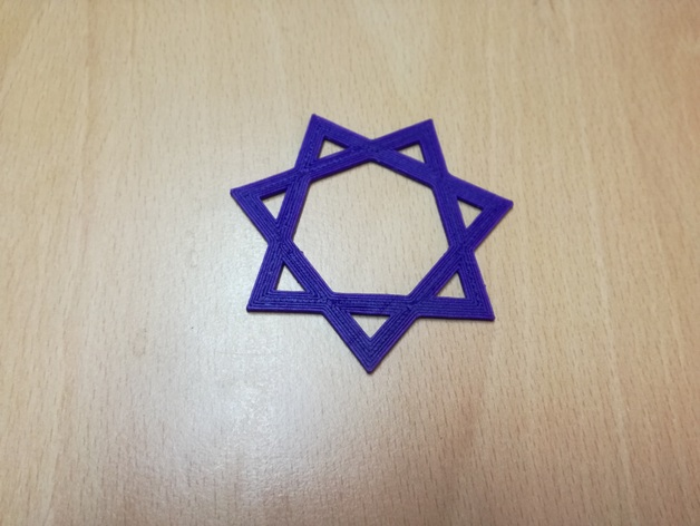 Obtuse heptagram pendant by p3hi thingiverse aloadofball Choice Image