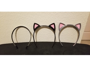 Wearable Cat Ears Hair Band - rigid and flexible options
