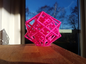 Lattice Cube 3D Printer Torture Test & Heart inside