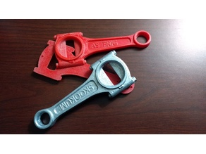 Connecting Rod Bottle opener split pattern for sand casting
