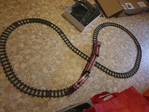 Lego compatible crossing Train tracks