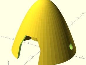 Spinner for R/C model folding prop (e.g. MPX Merlin)