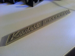Opel Kadett Rallye Badge