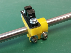 Improved opto endstop mounting for 8mm shafts