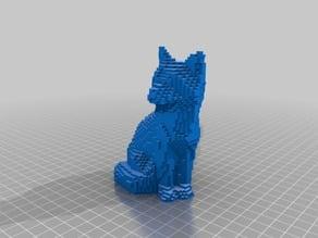 voxelized fox