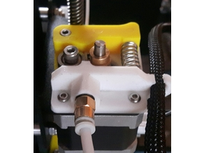 Creality CR-10 extr bracket for flex with cable holder