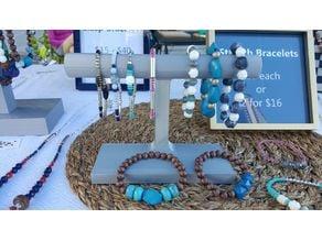 Bracelet Jewelry Display T-Bar (Short)