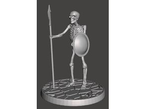 Children of the Hydra Skeleton With Spear - 28mm Miniature