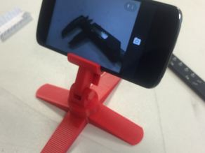 Quadropod camera phone stand