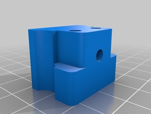 Printrbot idler latch with 3 mm filament guide and captive nuts (hexes rotated)