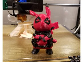 DeadPool x Pikachu - Pikapool - Single Extruder Version