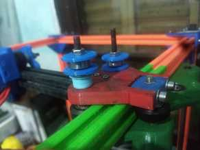Tronxy X5S xy 3 wheel carriage