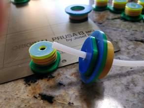 Filament Drybox O-Ring Bowden bulkhead FeedThru