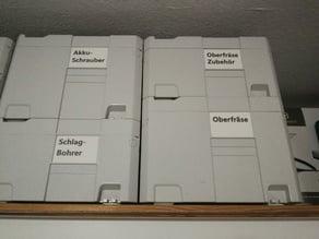 Festool Systainer Einlegekarten / Label