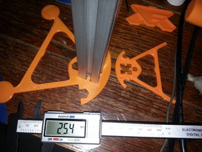 1 inch t-slot extrusion scale up of kossel mini