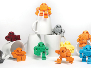 Maker Faire Robot Action Figure PIP (with supports): 2015 3D Printer Shoot Out Test Models