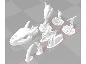 Giant Ribcage, Skull piles with bull skull or dragon skulls, Giant Tusks for 28mm wargames or RPGs