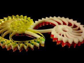 Nautilus Gears Acrylic laser cut + 3d print
