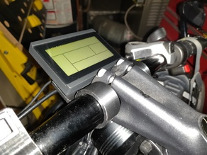 KT-LCD3 mount for 31.8mm handlebar