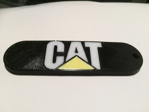 Caterpillar (CAT) Logo Key Tag