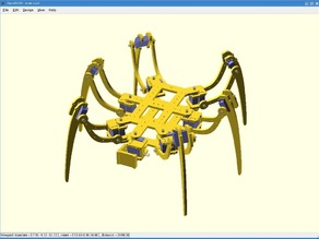 SpiderBot (Hexapod) OpenSCAD Model