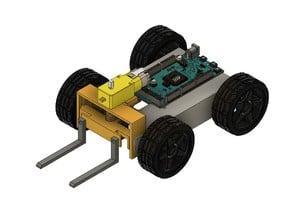 RoboFork - Completely 3D Printed Robot Forklift!*