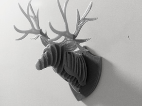 3D Puzzle Deer Head Fridge Magnet