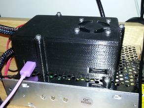 PrintrBoard case modified to mount on QU-BD One/Two-up PSU