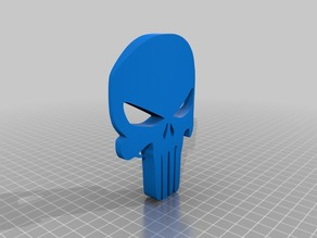 punisher skull curved face (scalable)