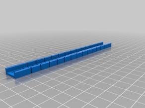 fischertechnik compatible flex rail (Flexschiene) 155mm