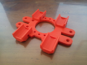 X-carriage for Mendel Prusa v2 with fixation in opposite side and 4 ball bearing mounts