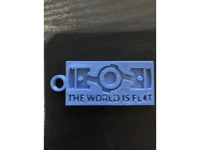 The World Is Fl4t  subaru boxer keychain