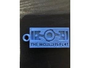 The World Is Fl4t  subaru boxer keychain