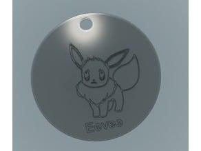 Eevee Keychain Tag Pokemon