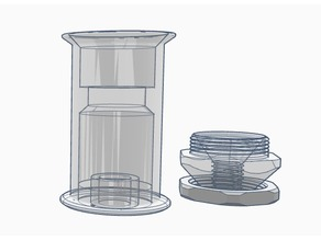 Remixed low friction spool holder - low profile