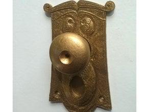 Door knob plate