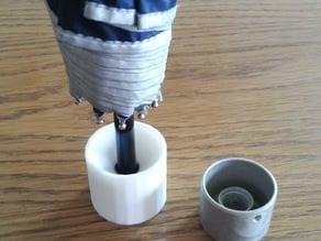Cylindrical style umbrella handle