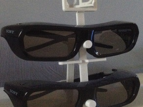 Stand for Sony TDG-PJ1 3D-glasses with rotating 3D-sign